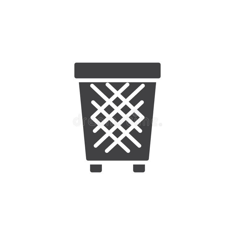 Ícone do vetor do escaninho de lixo ilustração stock