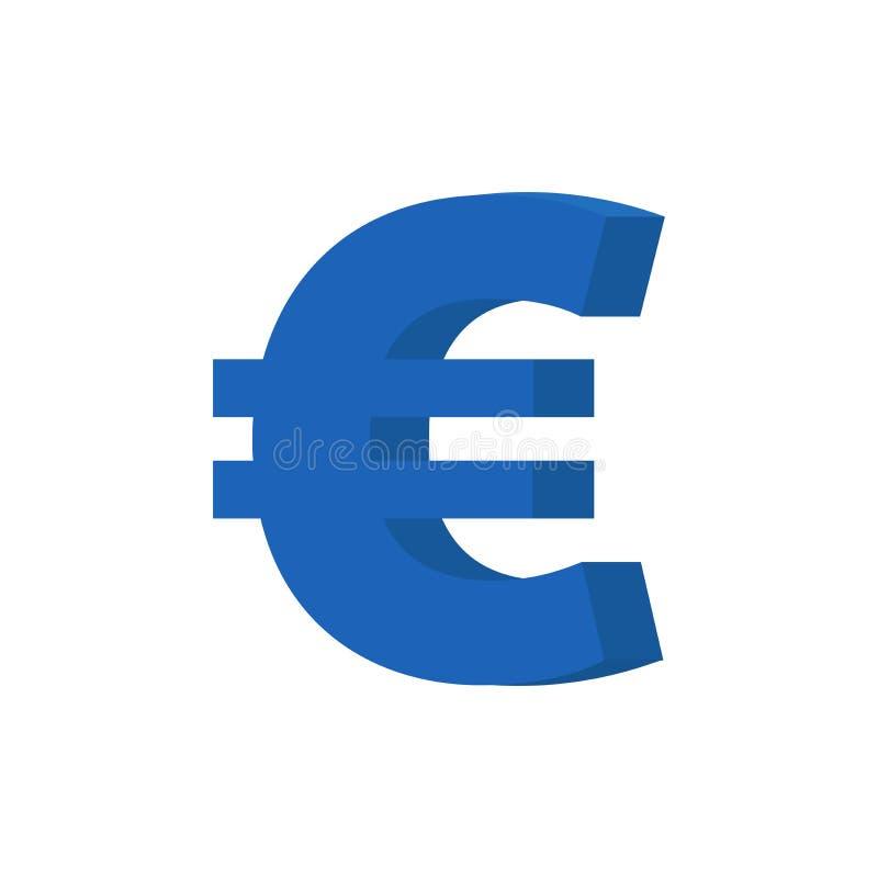 Ícone do vetor do Euro ilustração royalty free