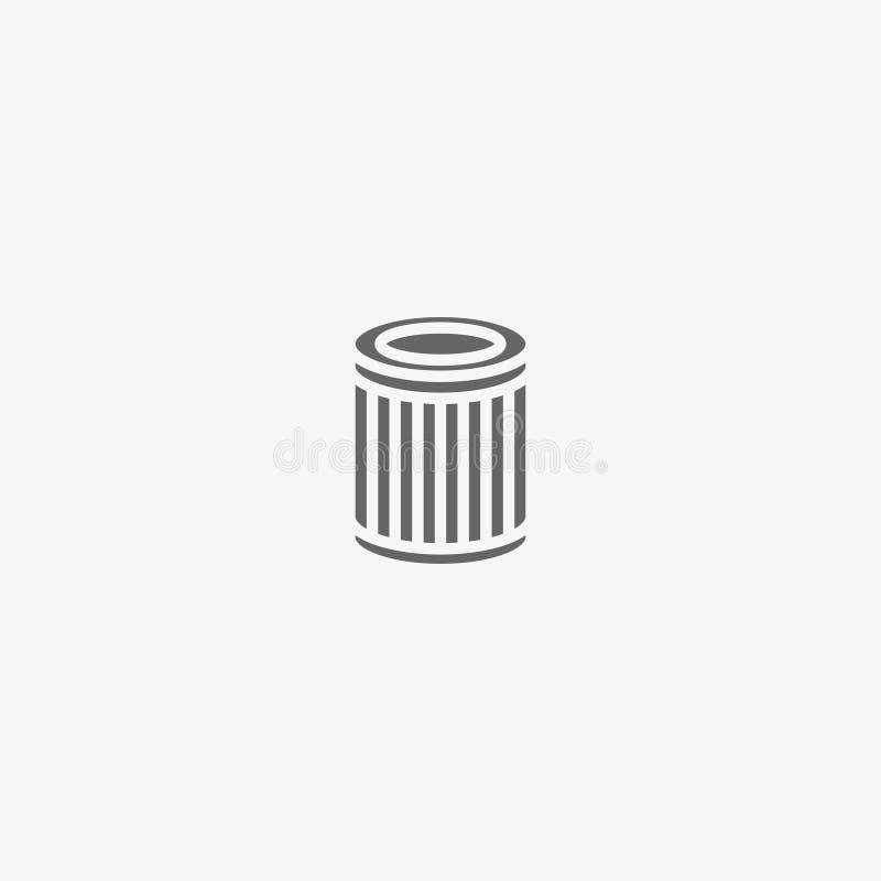 Ícone do vetor do filtro de ar fotos de stock