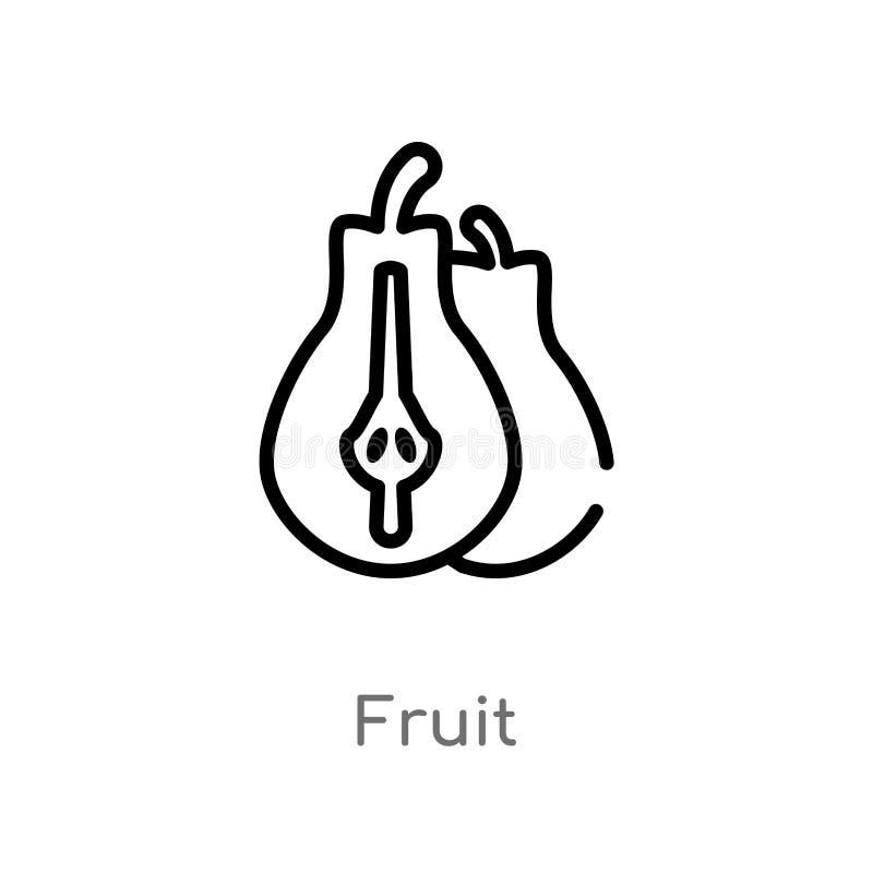 ícone do vetor do fruto do esboço r ícone editável do fruto do curso do vetor ilustração do vetor