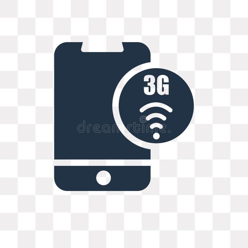 ícone do vetor 3g isolado no fundo transparente, transpare 3g ilustração stock
