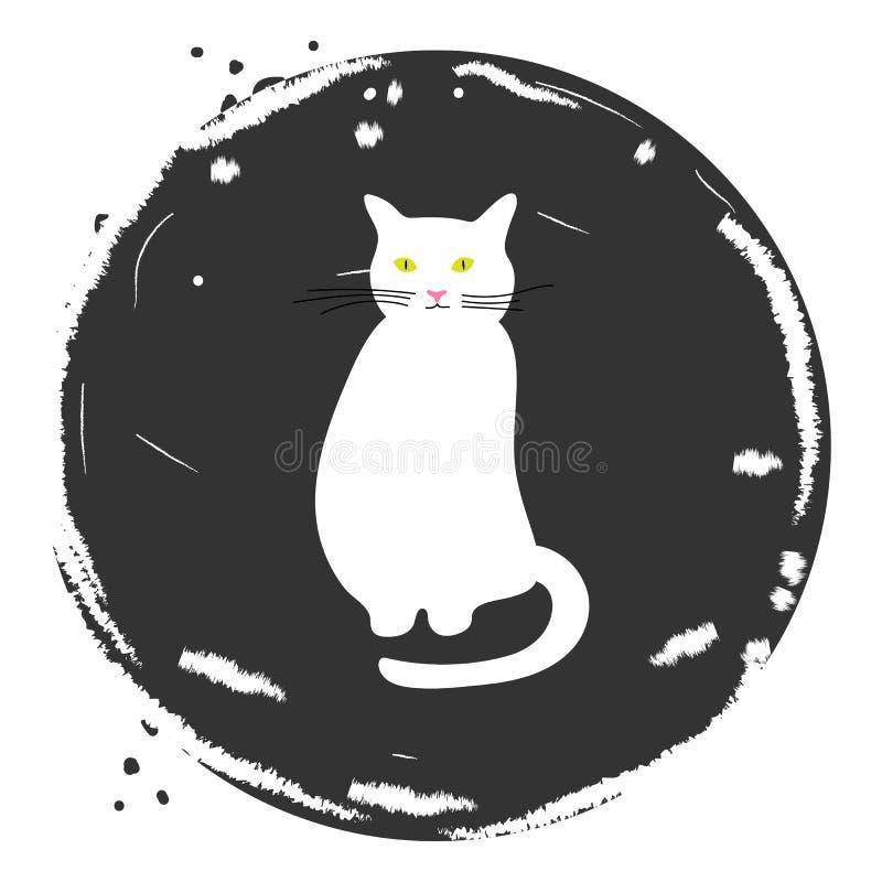 Ícone do vetor do gato ilustração do vetor