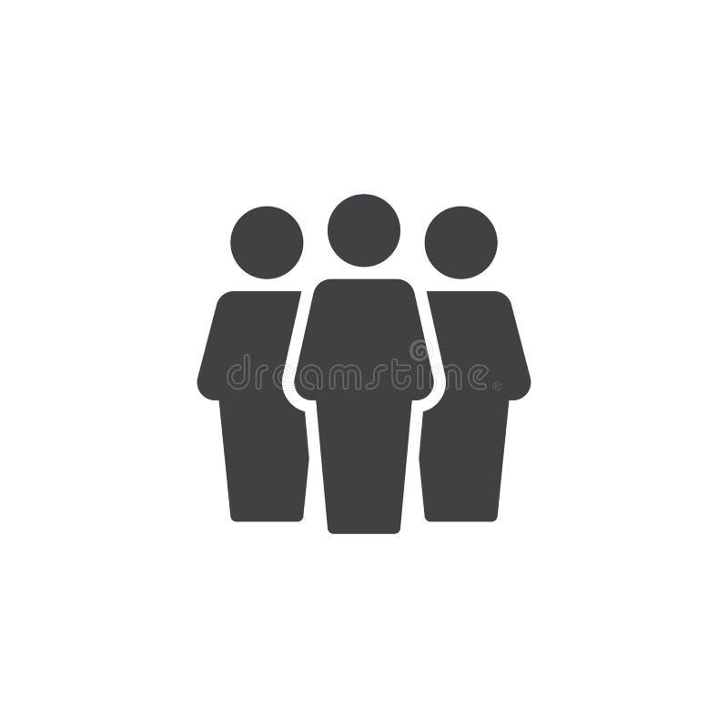 Ícone do vetor do grupo de utilizadores ilustração stock