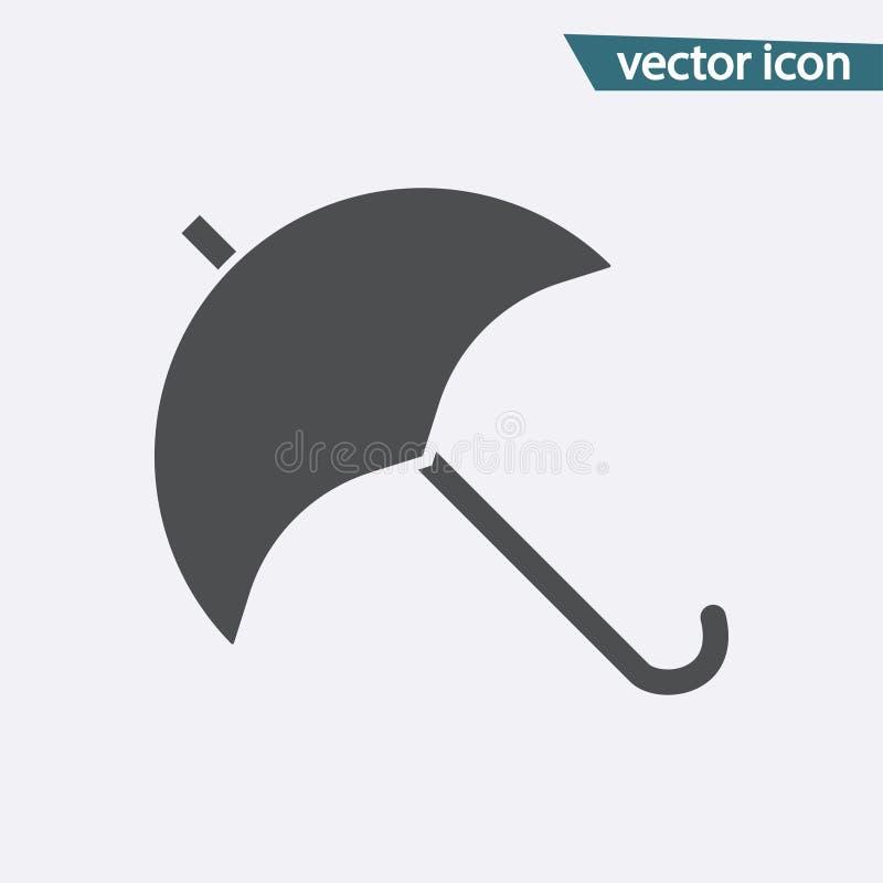 Ícone do vetor do guarda-chuva Símbolo liso da proteção isolado no fundo branco Conceito na moda do Internet ilustração royalty free