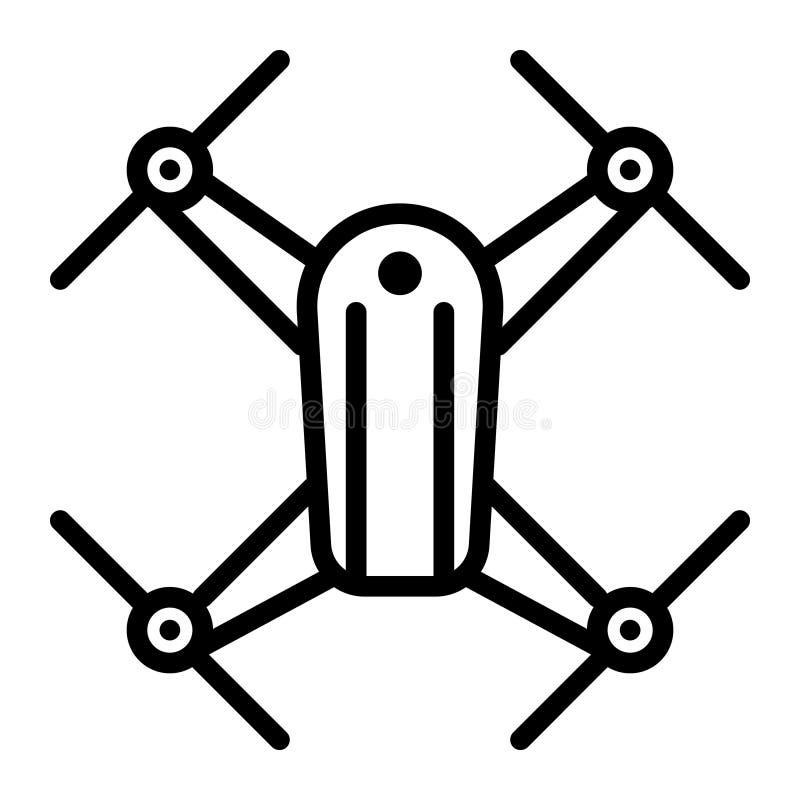 Ícone do vetor do helicóptero do zangão Logotipo da ilustração do helicóptero do zangão