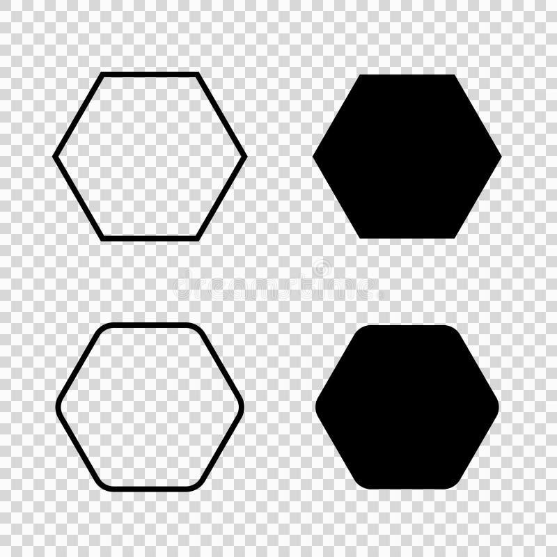 Ícone do vetor do hexágono ilustração do vetor