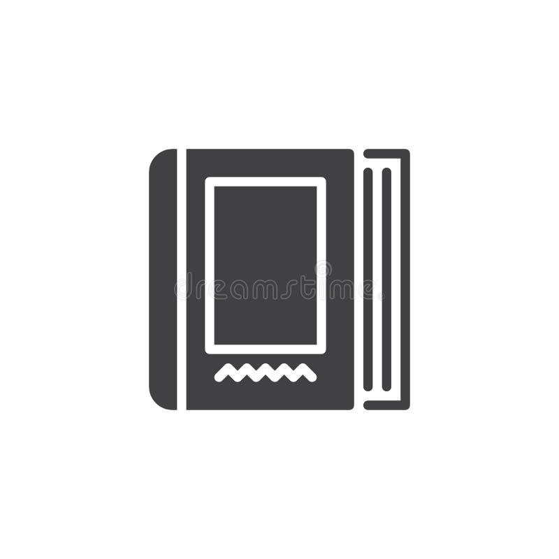Ícone do vetor do livro da enciclopédia ilustração stock