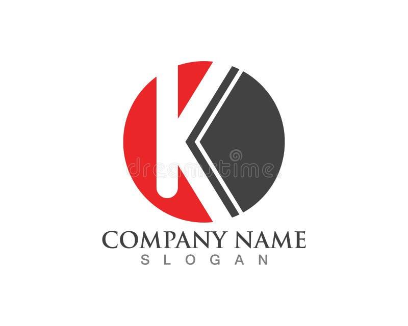 Ícone do vetor do logotipo da letra de K ilustração do vetor
