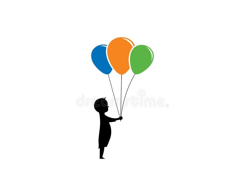 ícone do vetor do logotipo das crianças ilustração do vetor