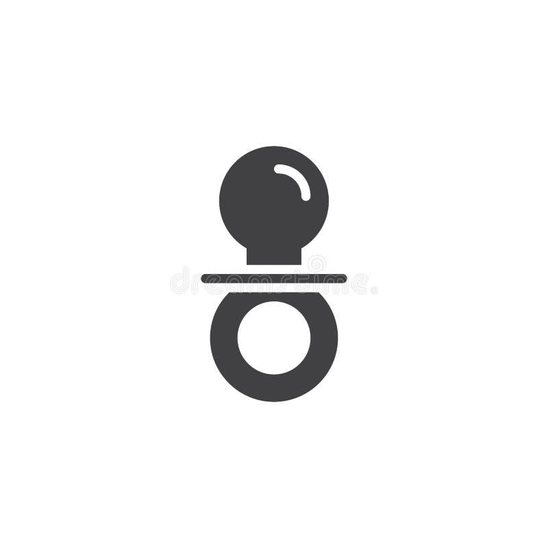 Ícone do vetor do manequim do ` s do bebê ilustração stock