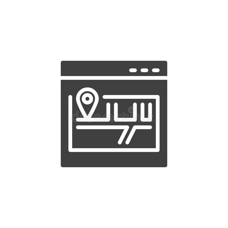 Ícone do vetor do mapa do site ilustração royalty free