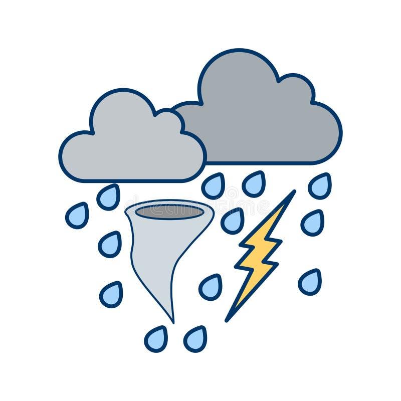 Ícone do vetor do mau tempo ilustração do vetor