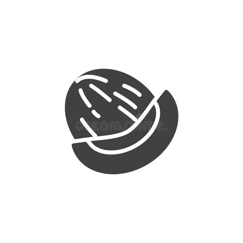 Ícone do vetor melão de Honeydew ilustração stock