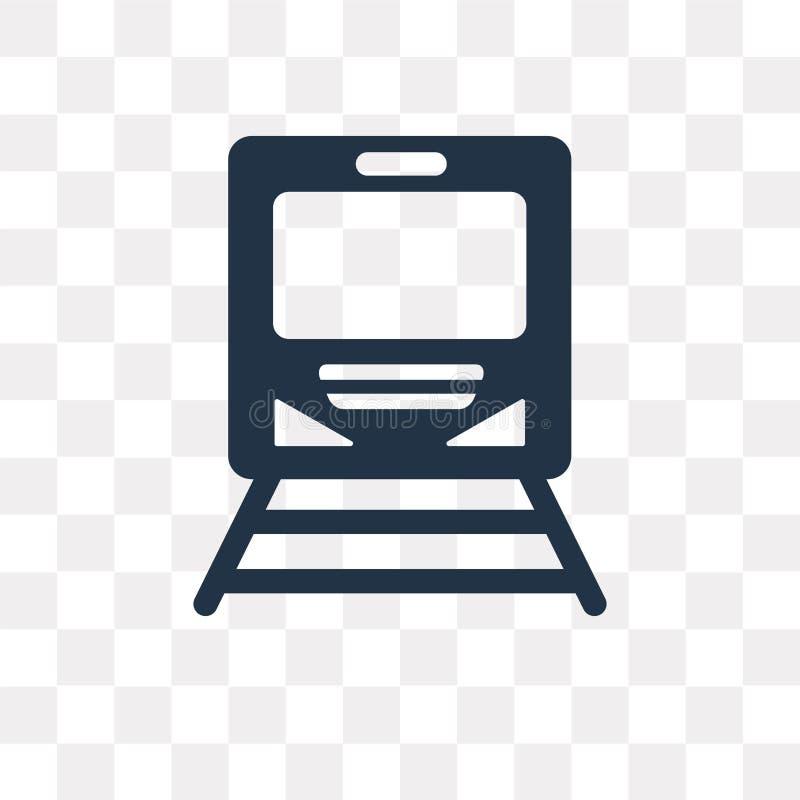 Ícone do vetor do metro isolado no fundo transparente, metro t ilustração stock