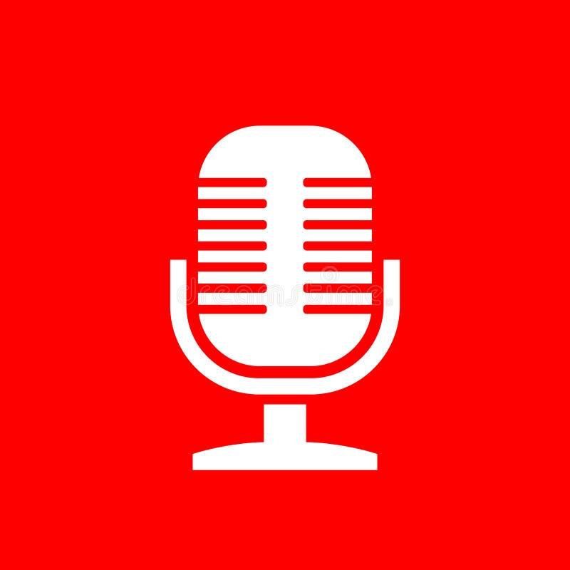 Ícone do vetor do microfone ilustração stock