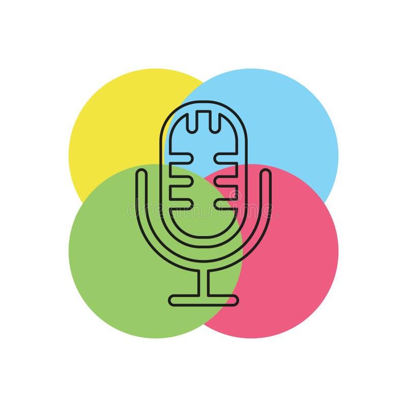 Ícone do vetor do microfone ilustração royalty free