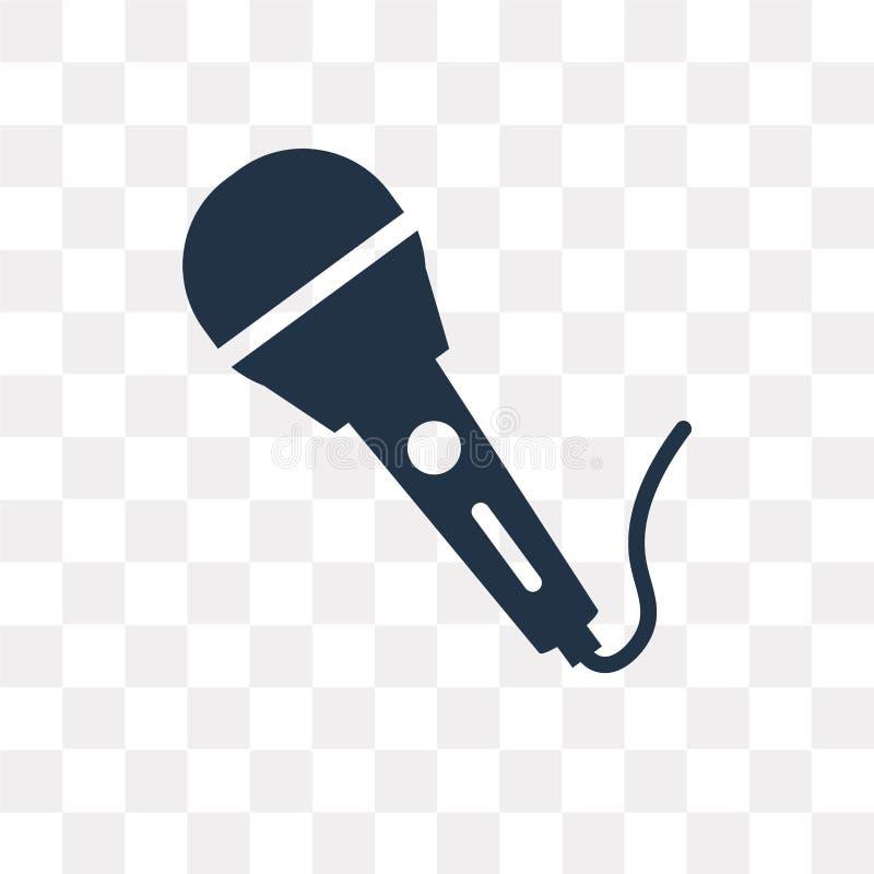 Ícone do vetor do microfone isolado no fundo transparente, micro ilustração royalty free