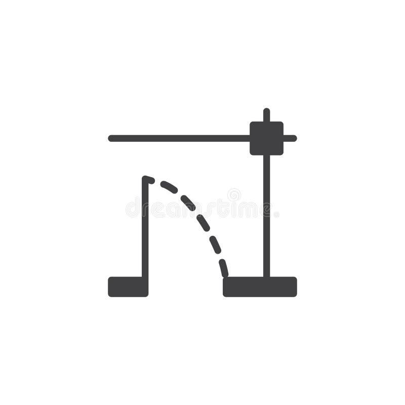 Ícone do vetor do modelo do plano da casa ilustração stock