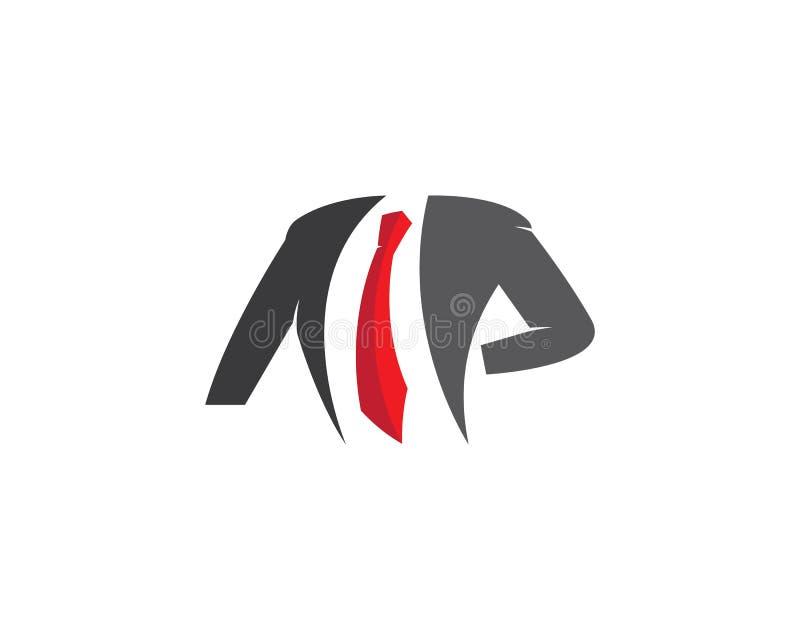 Ícone do vetor do molde do logotipo da roupa ilustração royalty free
