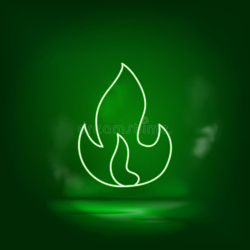 Ícone do vetor neon atmosférico Salve o mundo, neon verde ilustração stock