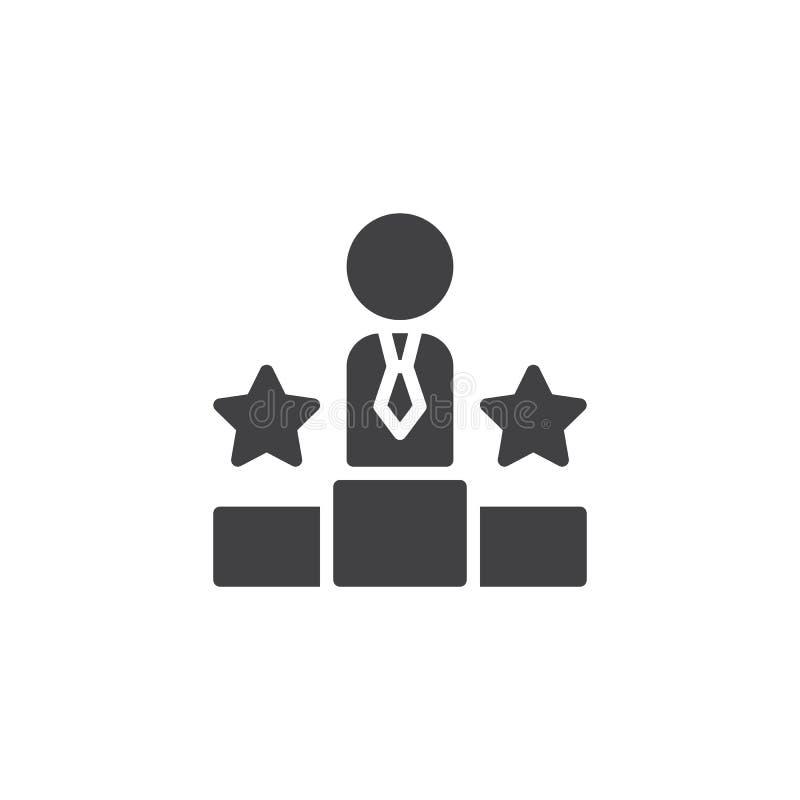 Ícone do vetor do pódio do vencedor ilustração royalty free