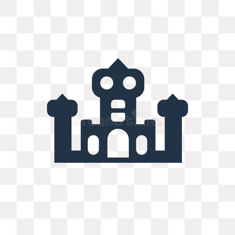 Ícone do vetor do palácio isolado no fundo transparente, palácio t ilustração royalty free
