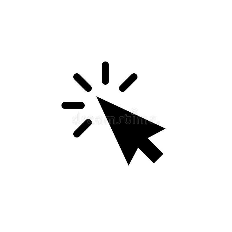 Ícone do vetor do ponteiro de seta do ponteiro de seta que clica para o botão do clique do cursor ilustração royalty free