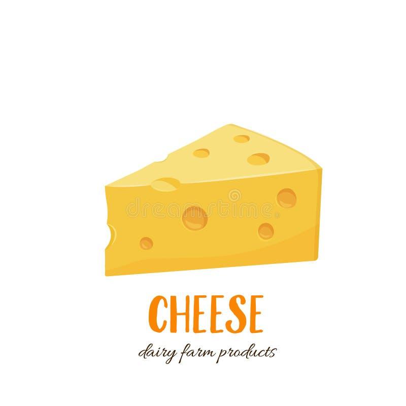 Ícone do vetor do queijo ilustração stock