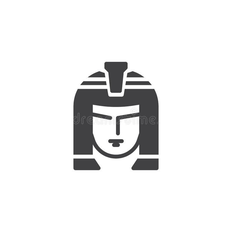Ícone do vetor do retrato de Cleopatra ilustração stock