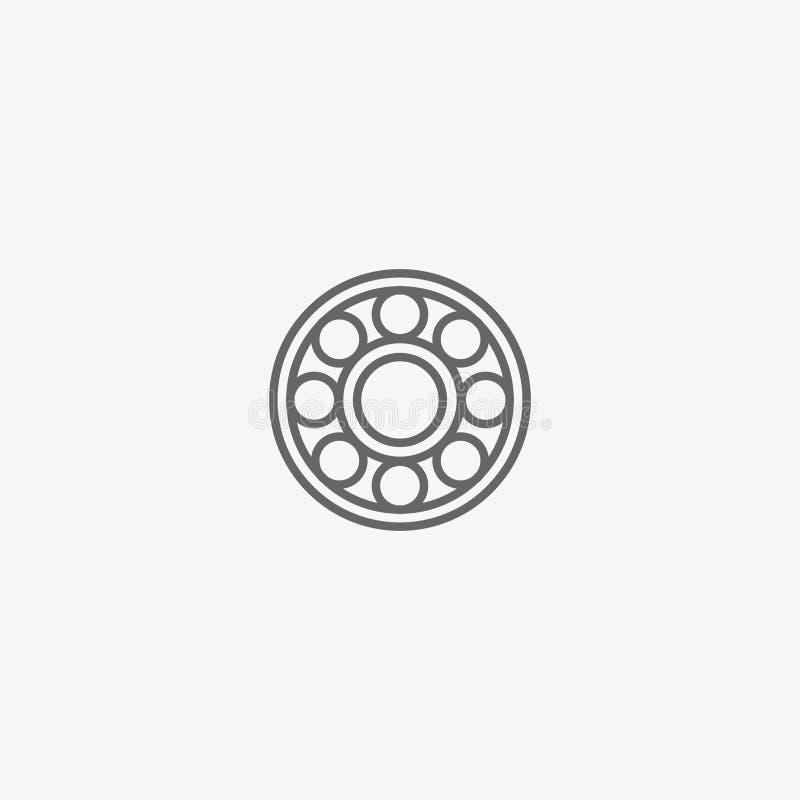 Ícone do vetor do rolamento de esferas imagens de stock royalty free