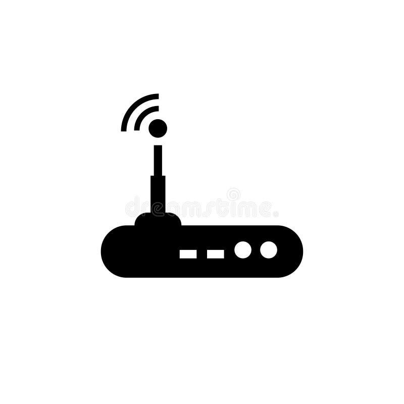Ícone do vetor do roteador de Wi-Fi ilustração stock