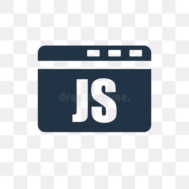 Ícone do vetor do roteiro de Java isolado no fundo transparente, Java ilustração royalty free