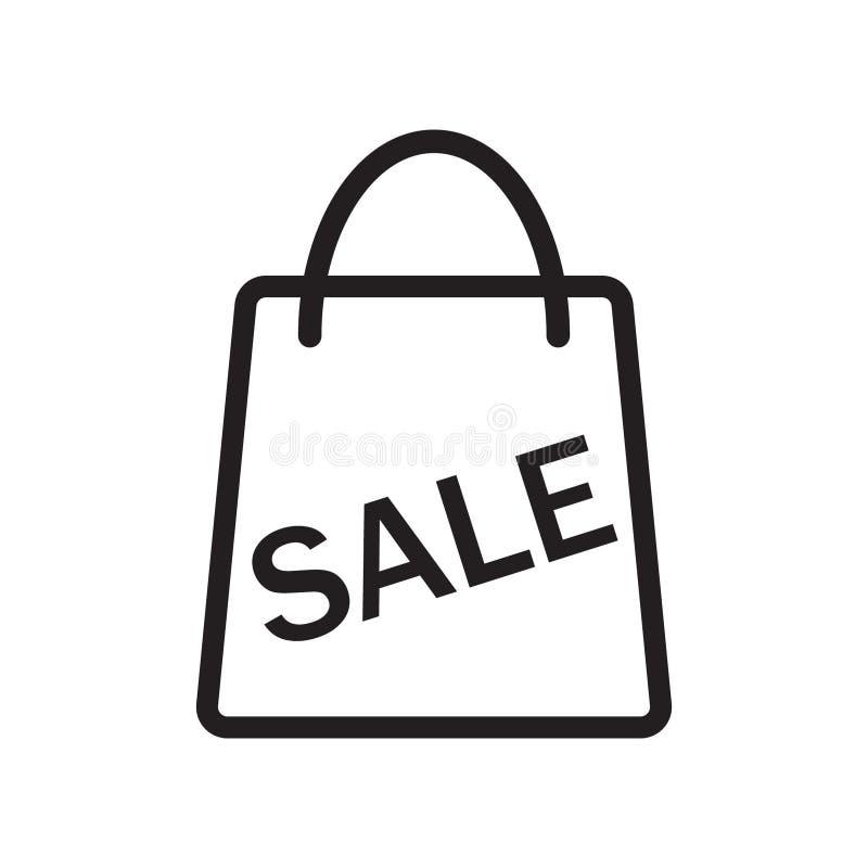Ícone do vetor do saco da venda ilustração stock