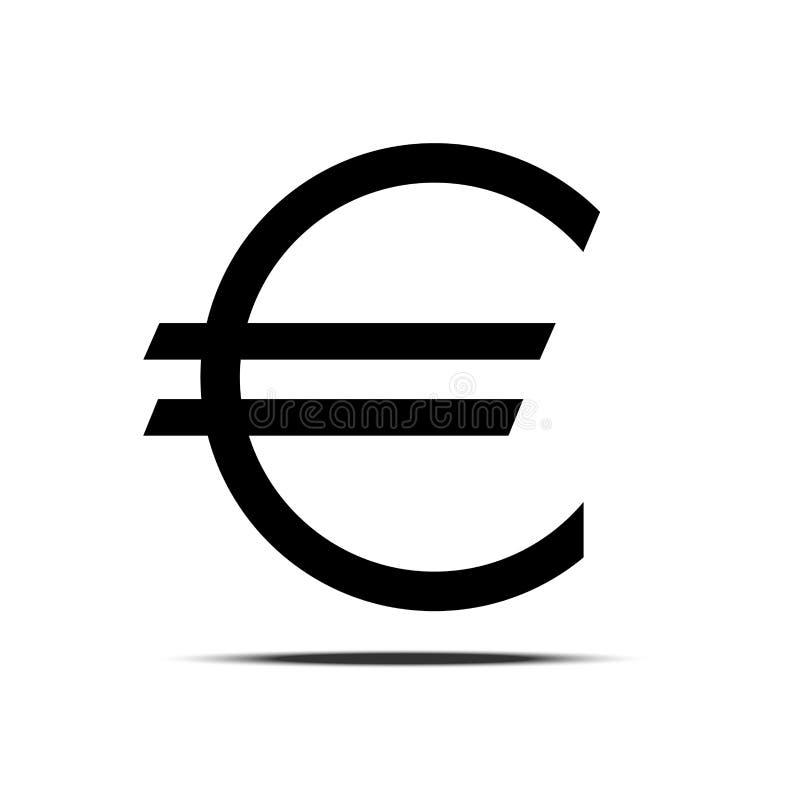 Ícone do vetor do sinal do Euro ilustração stock