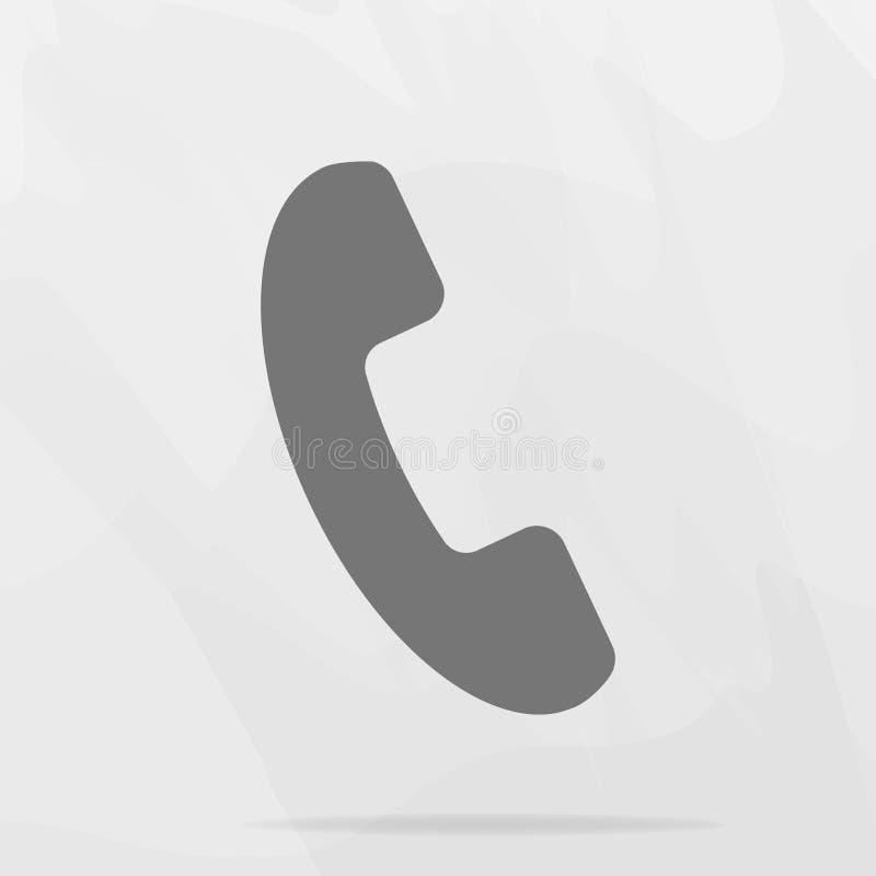 Ícone do vetor do telefone no estilo liso Monofone com sombra Editi fácil ilustração do vetor