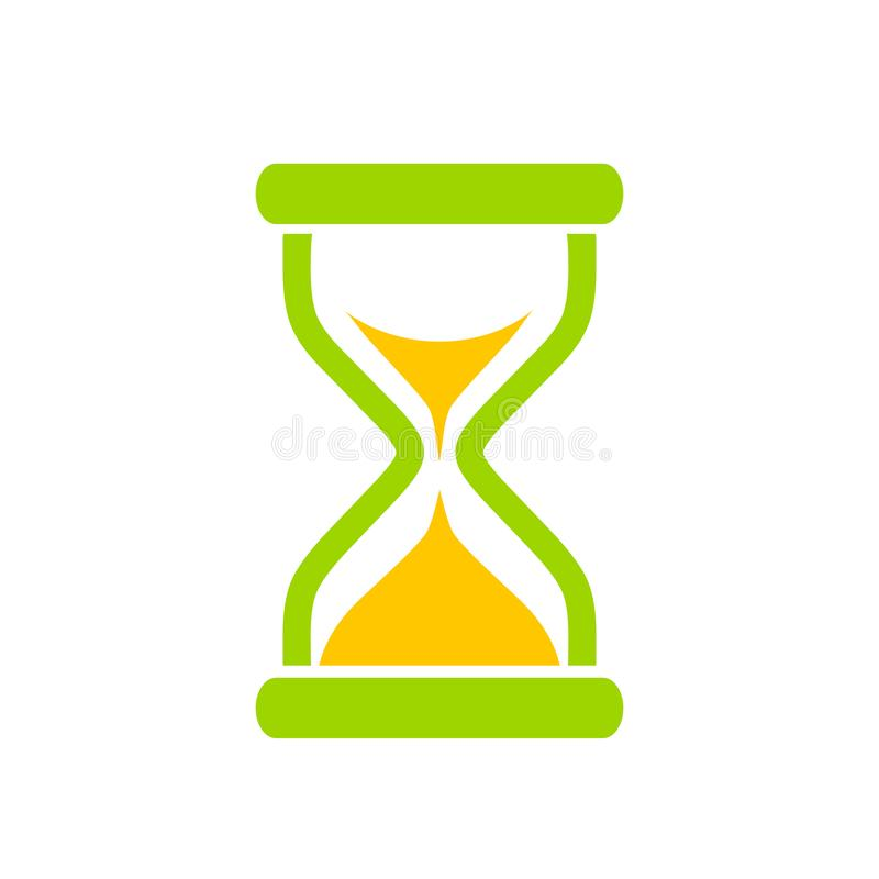 Ícone do vetor do tempo da ampulheta ilustração do vetor