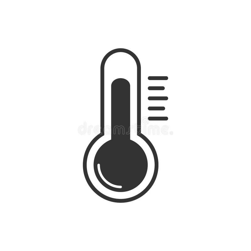 Ícone do vetor do termômetro para o projeto gráfico, logotipo, site, meio social, app móvel, ilustração do ui ilustração stock