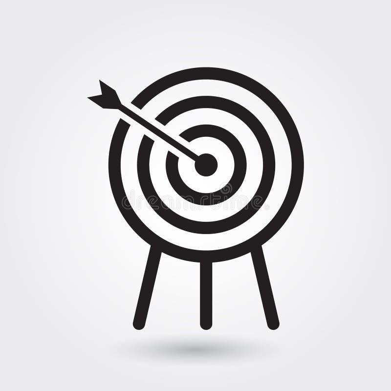 Ícone do vetor do tiro ao arco, símbolo dos esportes Esboço moderno, simples, ilustração do vetor do esboço ilustração stock