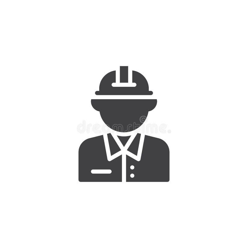 Ícone do vetor do trabalhador da construção do homem ilustração royalty free