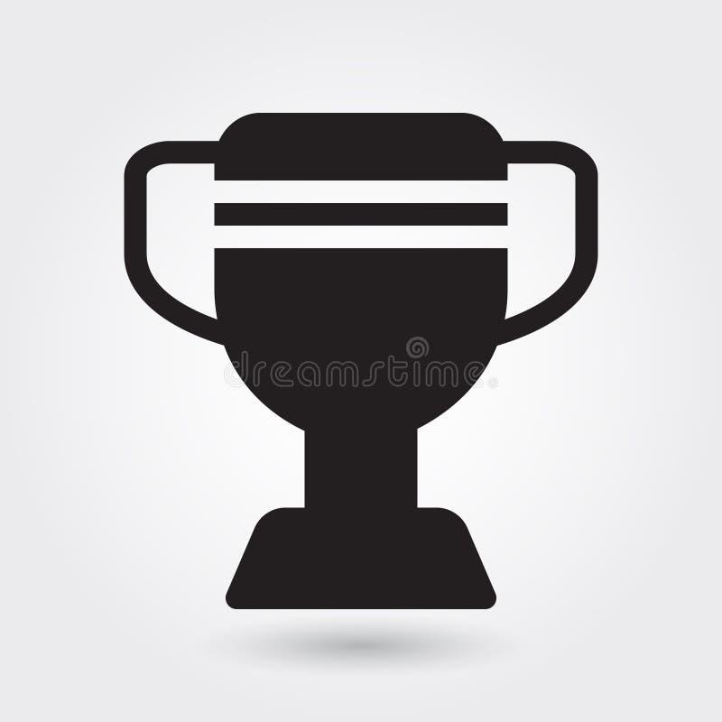 Ícone do vetor do troféu, ícone do campeão dos esportes, símbolo do vencedor dos esportes Glyph moderno, simples, vetor contínuo ilustração do vetor