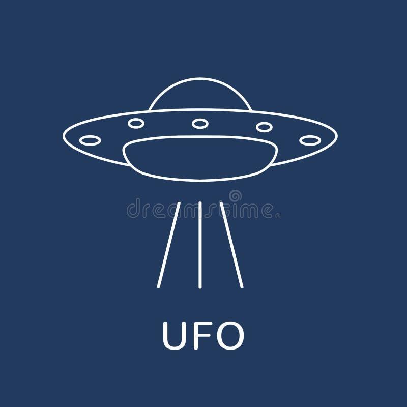 Ícone do vetor do UFO Navio de espaço estrangeiro Dia do UFO do mundo ilustração stock