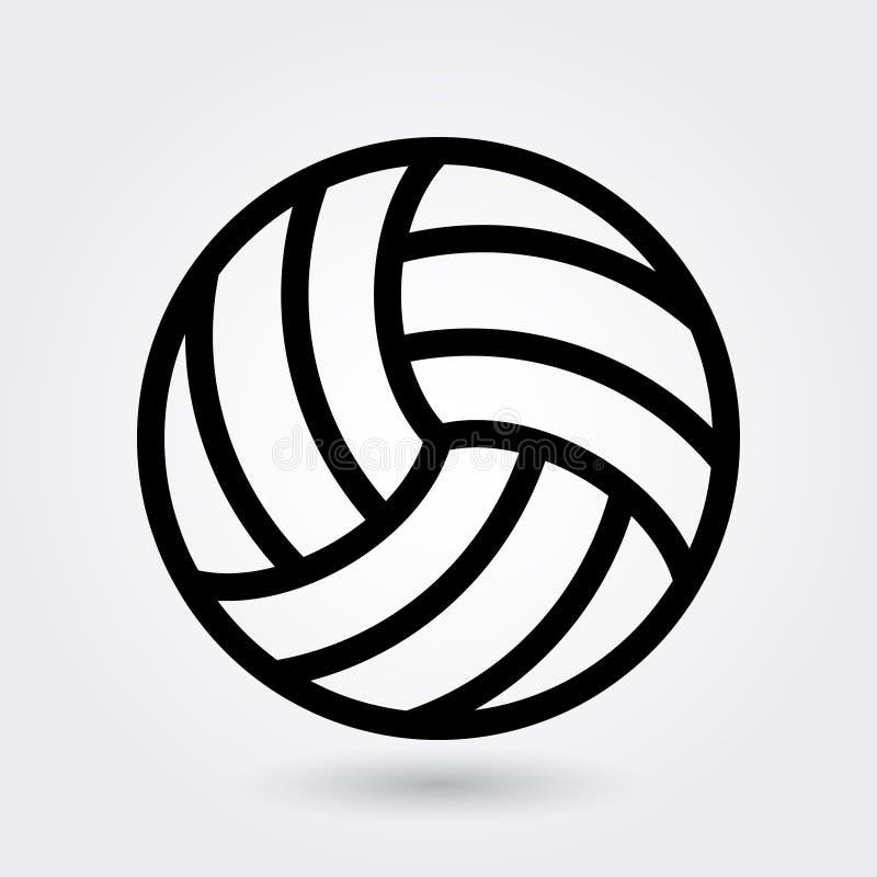 Ícone do vetor do voleibol, ícone dos esportes da salva, símbolo da bola dos esportes Esboço moderno, simples, ilustração do veto ilustração stock