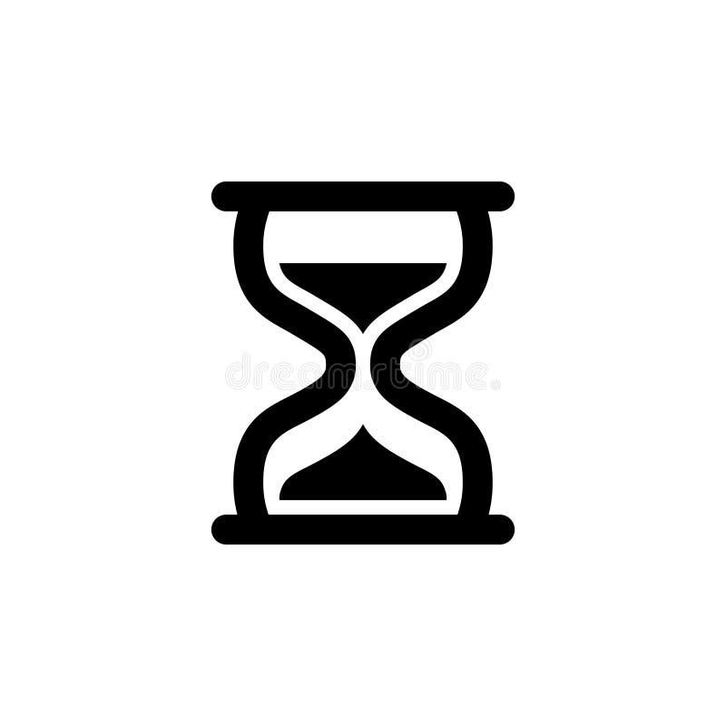 Ícone do vidro da hora Variação nenhuma 2 ilustração stock