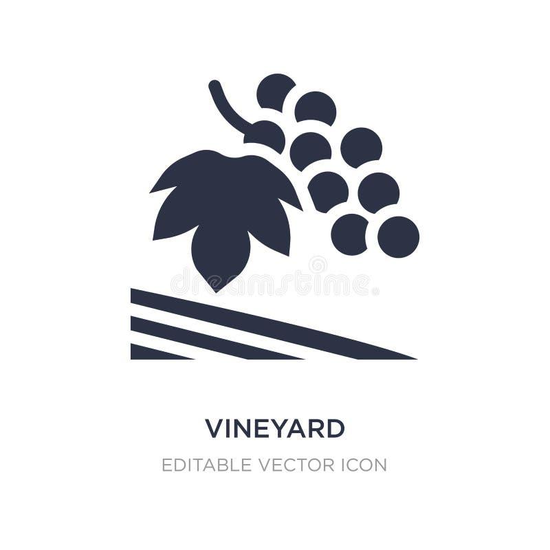 ícone do vinhedo no fundo branco Ilustração simples do elemento do conceito da natureza ilustração do vetor