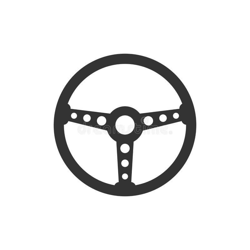 Ícone do volante Ilustração do vetor Carro w do conceito do negócio ilustração royalty free