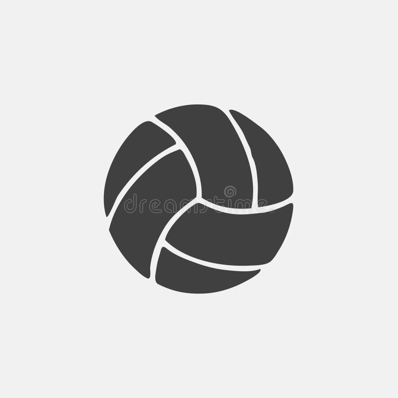 Ícone do voleibol ilustração royalty free