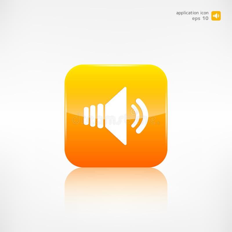 Ícone do volume do orador botão da aplicação ilustração do vetor