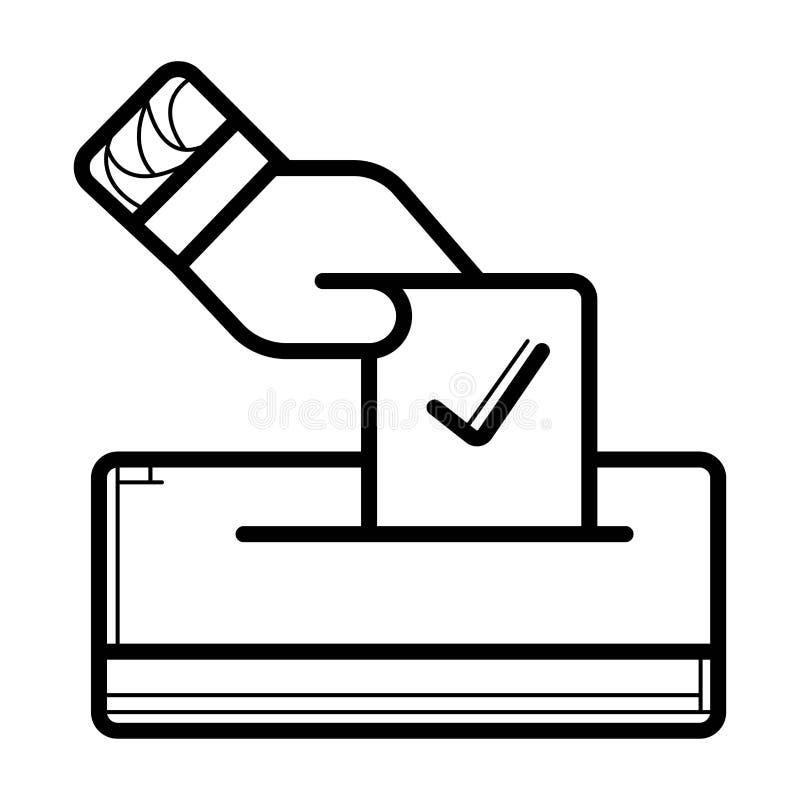 Ícone do voto ilustração royalty free