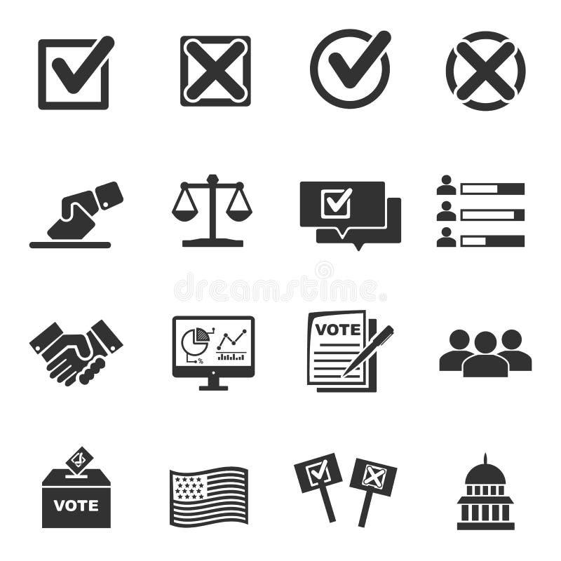 Ícone do voto ilustração stock