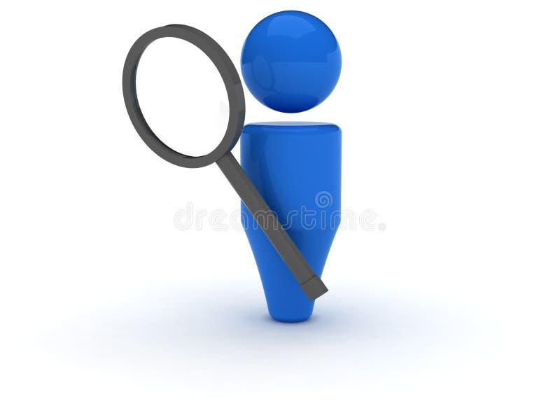 ícone do Web 3d - busca ilustração stock